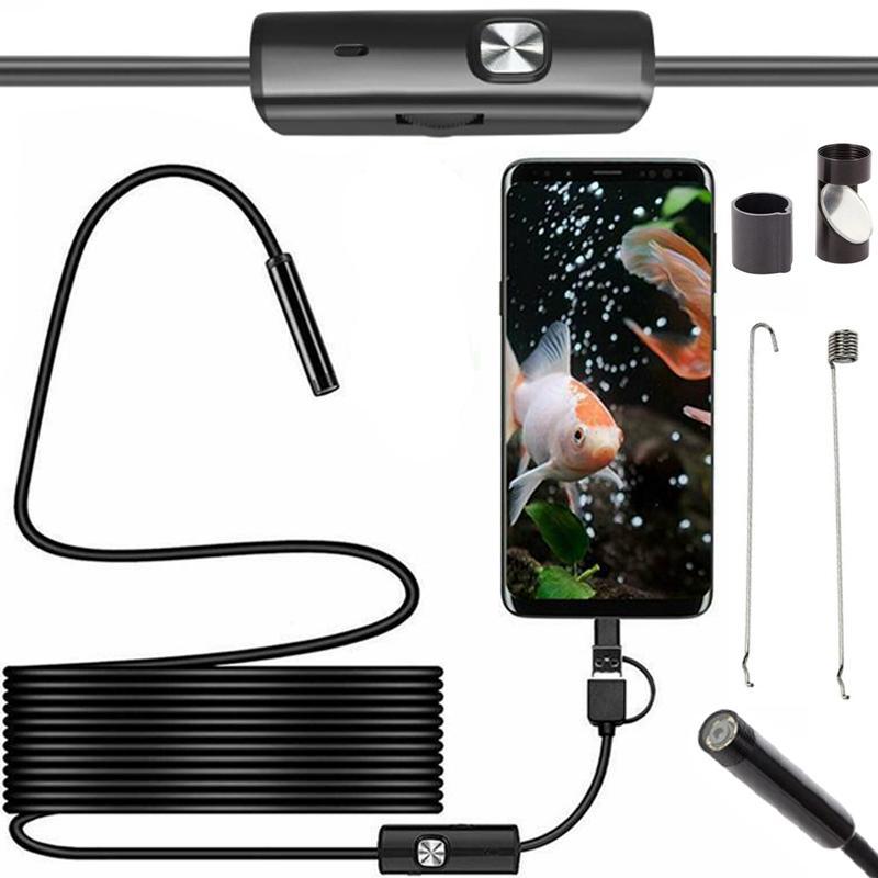 LED21 AK252B VODOTĚSNÁ ENDOSKOPICKÁ KAMERA 5,5 mm micro USB, USB, USB-C